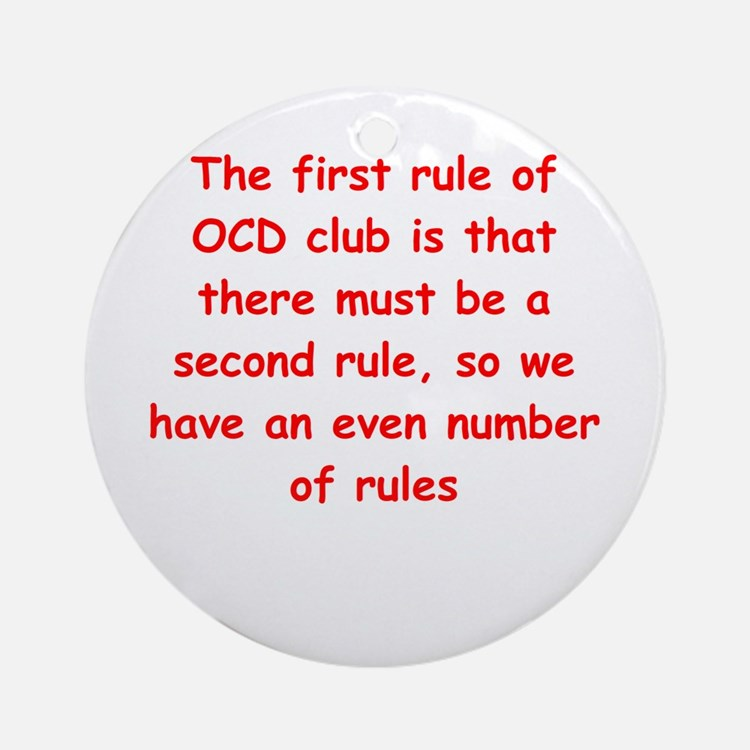 Ocd (round) Round Ornament