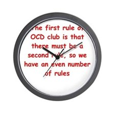 ocd Wall Clock