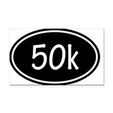 Black 50k Oval Rectangle Car Magnet