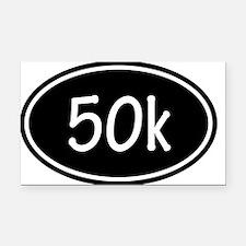 Black 50k Oval Rectangle Car Magnet