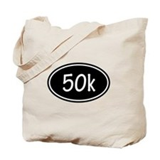 Black 50k Oval Tote Bag