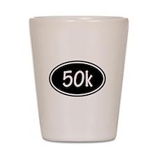 Black 50k Oval Shot Glass