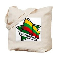 """""""Lithuania Star Flag"""" Tote Bag"""
