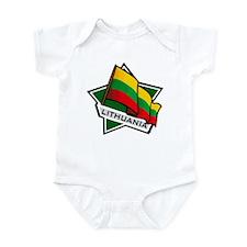 """""""Lithuania Star Flag"""" Infant Bodysuit"""