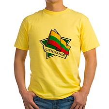 """Lithuania Star Flag"" T"