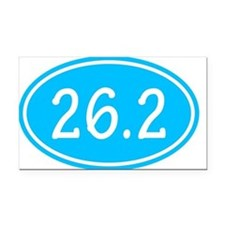 Sky Blue 26.2 Oval Rectangle Car Magnet