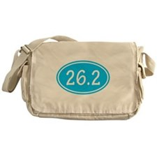 Sky Blue 26.2 Oval Messenger Bag