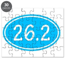 Sky Blue 26.2 Oval Puzzle