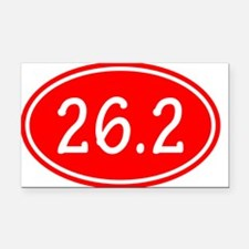 Red 26.2 Oval Rectangle Car Magnet