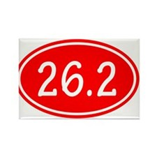 Red 26.2 Oval Magnets