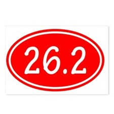 Red 26.2 Oval Postcards (Package of 8)