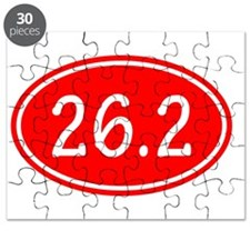 Red 26.2 Oval Puzzle