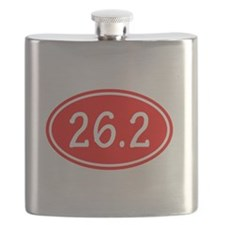 Red 26.2 Oval Flask