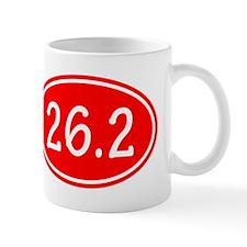 Red 26.2 Oval Mugs