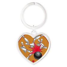 Strike Heart Keychain