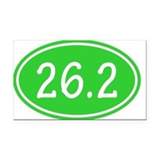 Lime 26.2 Oval Rectangle Car Magnet