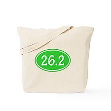 Lime 26.2 Oval Tote Bag