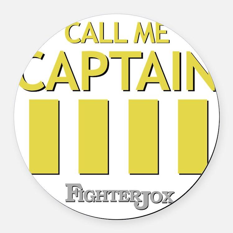 captain-2 Round Car Magnet