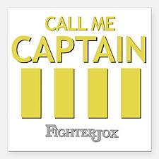"""captain-2 Square Car Magnet 3"""" x 3"""""""
