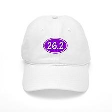 Purple 26.2 Oval Baseball Baseball Cap