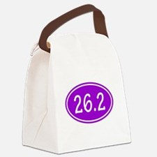 Purple 26.2 Oval Canvas Lunch Bag