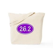 Purple 26.2 Oval Tote Bag