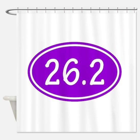 Purple 26.2 Oval Shower Curtain