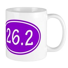 Purple 26.2 Oval Mugs