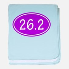Purple 26.2 Oval baby blanket
