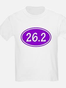 Purple 26.2 Oval T-Shirt