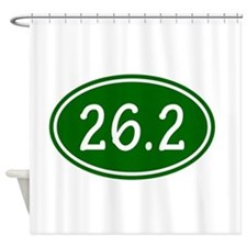 Green 26.2 Oval Shower Curtain