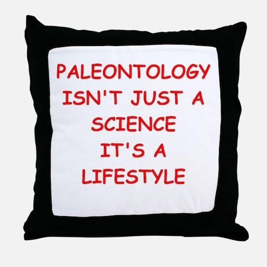 PALEONTOLOGY Throw Pillow