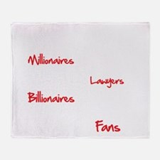 Millionaires-vs.-Billionaires-Bracke Throw Blanket