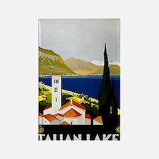 Italian_Lakes,_travel_poster_Art_ Rectangle Magnet