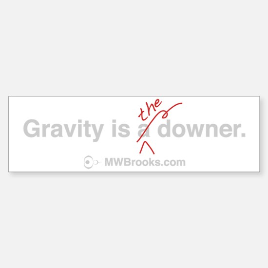 Gravity_grey Sticker (Bumper)