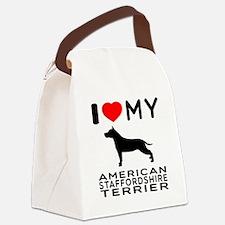 I Love My American Staffordshire Terrier Canvas Lu