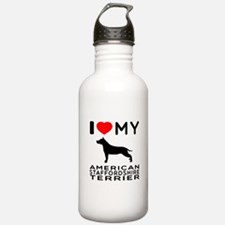 I Love My American Staffordshire Terrier Water Bottle