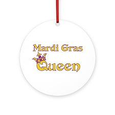 Mardi Gras Queen Ornament (Round)