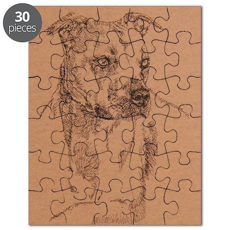Pit_Bull_Terrier_KlineSq Puzzle