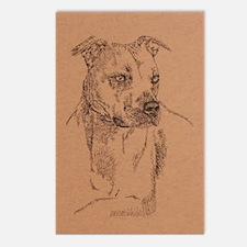 Pit_Bull_Terrier_KlineSq Postcards (Package of 8)