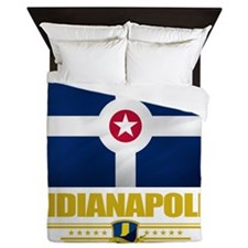 Indianapolis (Flag 10) Queen Duvet