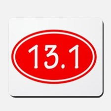 Red 13.1 Oval Mousepad