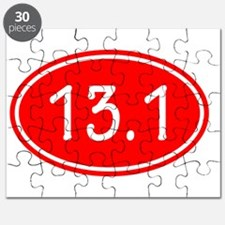 Red 13.1 Oval Puzzle