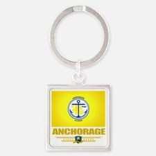 Anchorage (Flag 10)1 Square Keychain