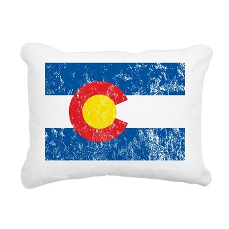 Colorado_shirt Rectangular Canvas Pillow