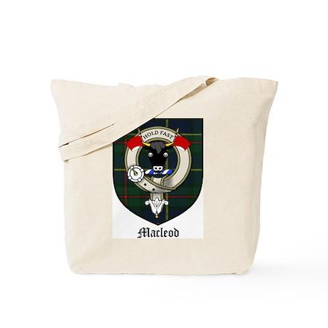 Macleod Clan Crest Tartan Tote Bag