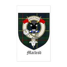 Macleod Clan Crest Tartan Rectangle Decal