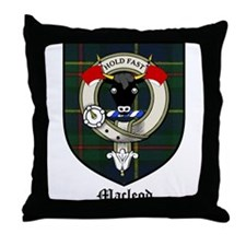 Macleod Clan Crest Tartan Throw Pillow