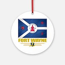 Fort Wayne (Flag 10) Round Ornament