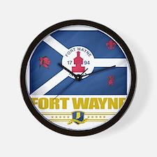 Fort Wayne (Flag 10) Wall Clock